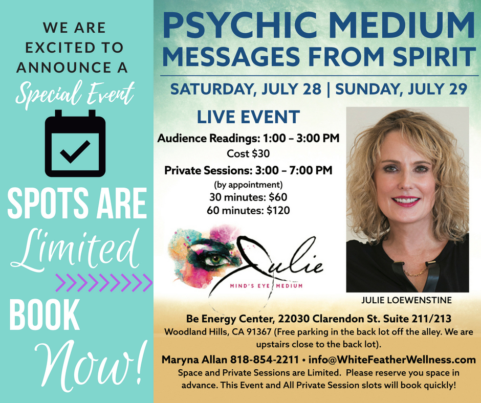 Psychic Medium Flyer for Julie